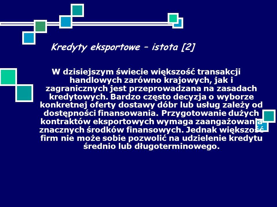 Kredyty eksportowe – istota [2]